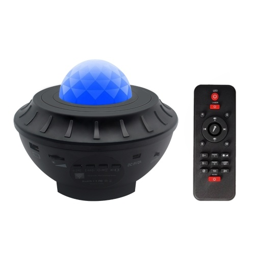 LED Star Projection Lamp Music Starry Projector Light Sound Activated RGBW Stage Lighting Lamp