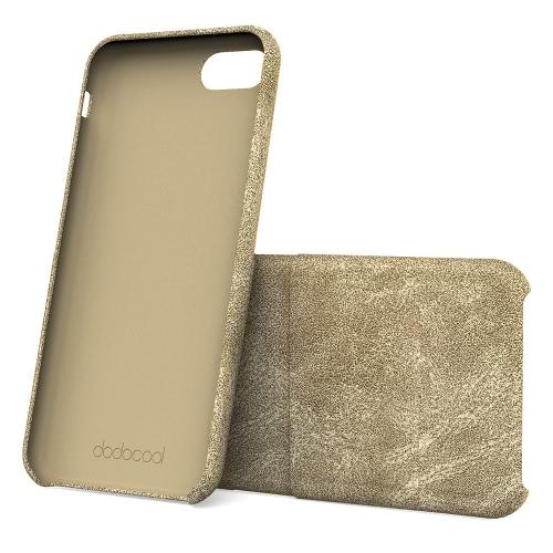 dodocool PU carteira de couro caso de telefone escudo protetor com cartão de crédito slot titular para 4,7 polegadas do iPhone 7 Khaki