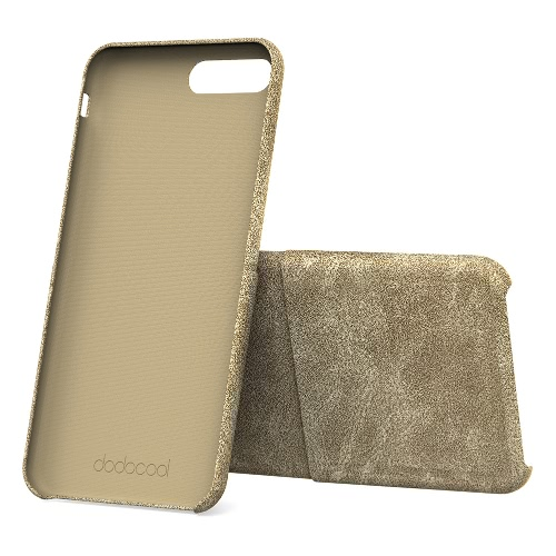 dodocool PU carteira de couro caso de telefone escudo protetor com cartão de crédito ranhura do suporte para 5.5 polegadas iPhone 7 Plus Khaki