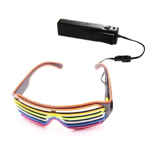 Gafas LED de control por voz YJ010 3 colores Luz opcional