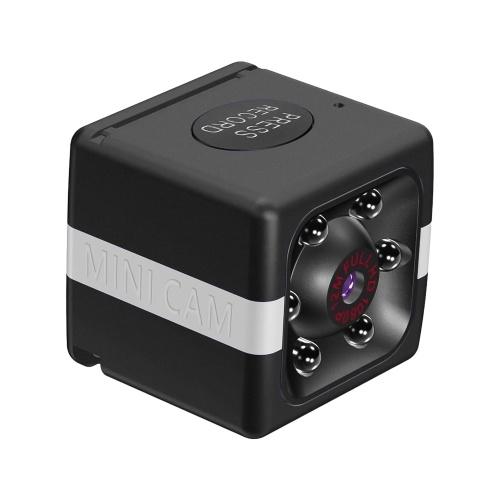 1080P 30FPSWiFiミニカメラビデオカムカムコーダーナニーカム120°広角IRナイトビジョンモーション検出ベビーペットホームセキュリティモニタリング用の32GB拡張メモリ