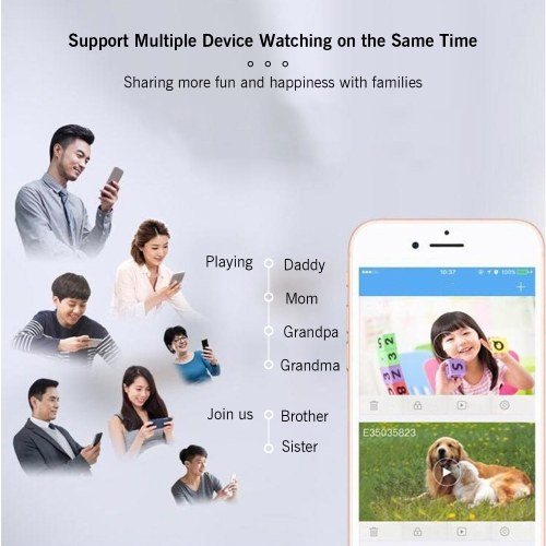1080P High-Definition Mini Portable Camera Smart WiFi Wireless Security Camera Night Vision Motion Detection with APP Magnetic Design Rotatable Base Bracket for Home Security Outdoor Exercising Kids Monitoring Pets Monitoring