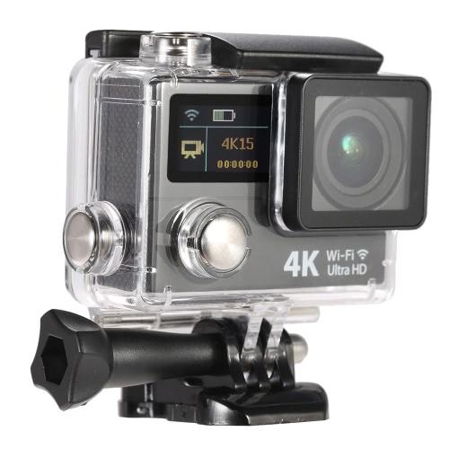 2-calowy ekran LCD Podwójna Ultra HD Wifi Sports Action Camera 4K 15fps 1080p 60fps 12MP 170 ° szerokokątny dla Wyjście HDMI Wodoodporny 30m Cam Car DVR FPV z pilotem