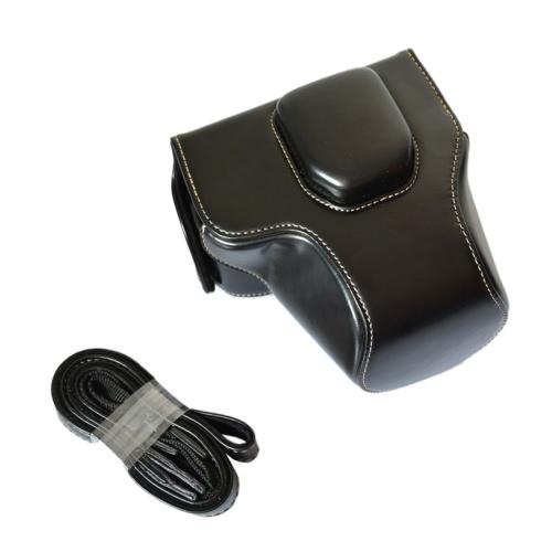 Hohe Qualität Crazy-horse Leder Kamera Hülle Tasche mit Schultergurt für Olympus OM-D EM10 E-M10 mit 14-42mm Objektiv Nur