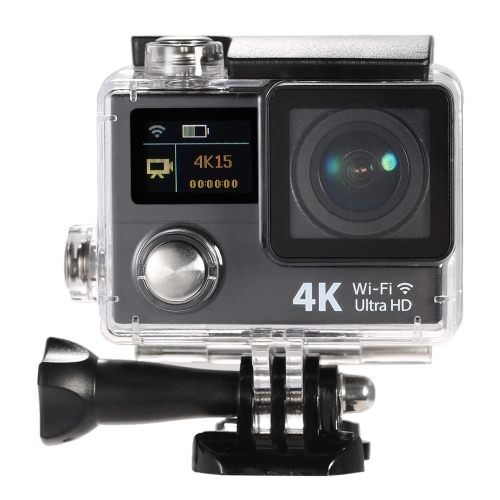 2 Inch Dual Screen LCD Ultra HD Wifi Sports Action Camera 4K 15fps 1080P 60fps 12MP 170° Wide-angle for HDMI Output Waterproof 30m Cam Car DVR FPV