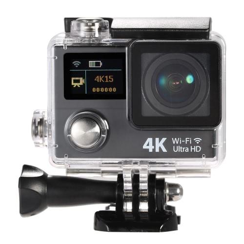 2 Zoll Dual Screen LCD Ultra HD Wifi Sport Action Kamera 4K 15 Bildern pro Sekunde 1080P 60fps 12MP 170° Weitwinkel für HDMI Ausgang 30m wasserdicht Cam Car DVR FPV