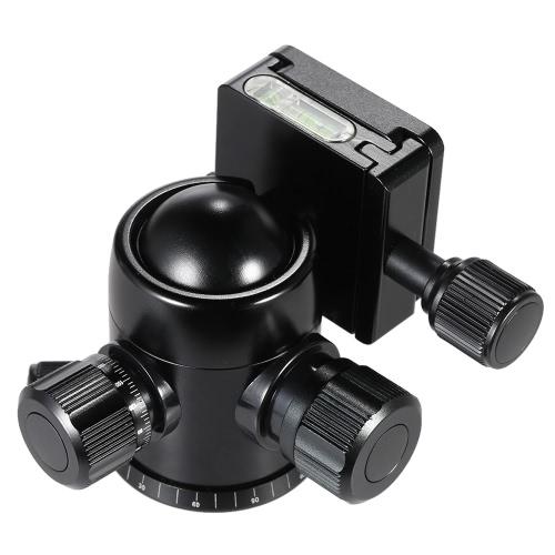 TRIOPO B 2 三脚ヘッド ボール ヘッド 360 度パノラマ ヘッド内蔵ダブル水準器・ デジタル一眼レフ カメラ用セーフティ キャッチ w/最大荷重 8 Kg