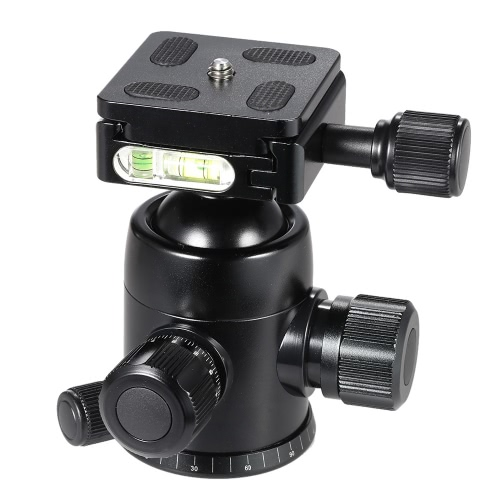 TRIOPO B-2 Tripod Head Ball Head 360 Degree Panorama Head W/ Built-in Double Spirit Levels & Safety Catch for DSLR Cameras Max Load 8Kg