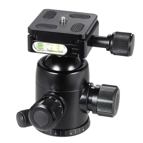 TRIOPO B-2 trépied tête tête 360 degrés panoramique rotule W / intégré Double esprit niveaux & taquet de sécurité pour appareils photo reflex numériques Max charge 8Kg
