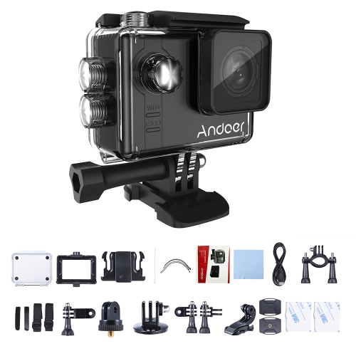 Andoer AN7000 Wifi 4K Camera 1080P 120fps 720P 240fps Full HD Action Camera WiFi Sports Camera Anti-shake Waterproof Diving 60m 2.0
