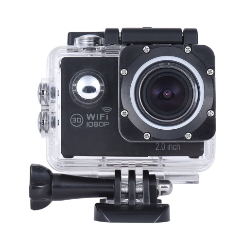 Action Camera 1080P FHD Novatek NTK96655 WiFi Waterproof LCD Wide Angle Bicycle Helmet Sports Camcor