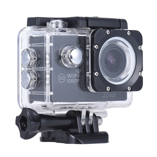 Action Camera 1080P FHD Novatek NTK96655 WiFi Waterproof LCD Wide Angle Bicycle Helmet Sports Camcorder Car DVR