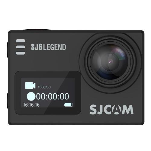 Оригинал SJCAM SJ6 ЛЕГЕНДА Двойной экран 2.0in сенсорный экран Спорт Действие камеры NTK96660 4K 1080P 60fps Full HD 16MP Водонепроницаемый Wi-Fi 166 градусов Широкий угол Гироскоп антисмещ Спорт Видео Автомобильный видеорегистратор FPV