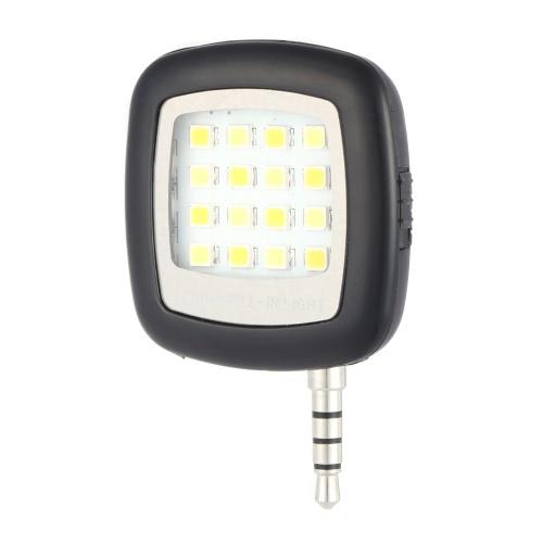 Andoer tragbare Mini-16-LED-Blitz Fill-in-Licht-Nacht Selfie Selbstporträt-Lampe für iPhone 6 / 6S Samsung Huawei Smartphone für iPad PC