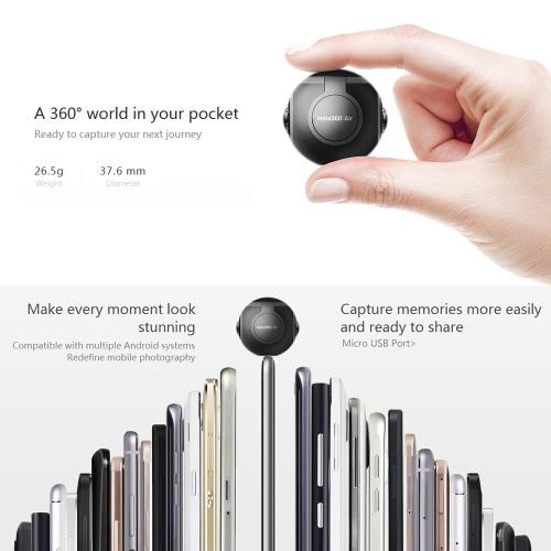Insta360 Air Pocket Mini Panoramic Camera -Micro USB