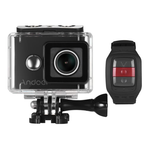 Andoer AN8000 4K/30fps WiFi Action Sports Camera Adopt for Ambarella A12 1080P/120fps 720P/240fps Full HD 16MP w/ 2.4G Wireless Remote Control Underwater 30m 155°Wide Angle Lens 2.0
