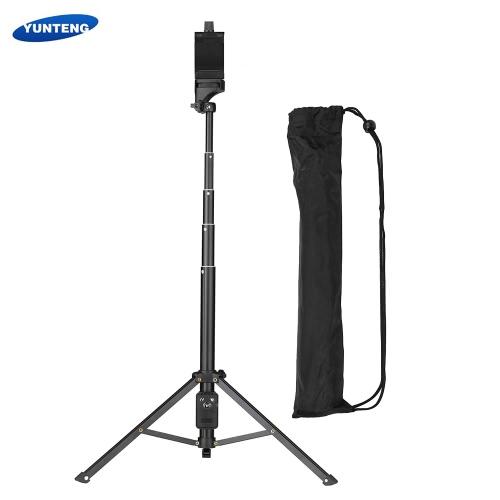 YUNTENG VCT-1688 2in1ポータブルミニ携帯電話Selfieスティック卓上三脚リモコン付きiPhone用サムスンHuawei 52mm-102mm幅のスマートフォンDSLR用ILDCカメラアクションカメラマックス。負荷5kg