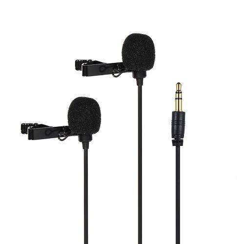 Comica CVM-D02 2.5m/8.2ft Dual-head Lavalier Lapel Microphone D4803-3B