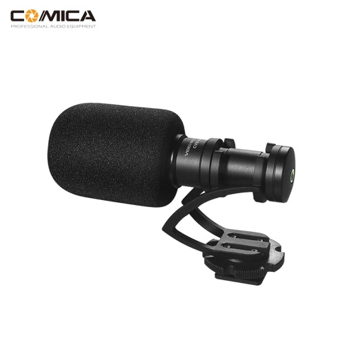COMICA CVM-VM10II Full Metal MINI Compact On-Camera Cardioid Directional Video Microphone with Shock-Mount for iPhone Samsung Huawei Smartphones for DJI OSMO for GoPro 3,3+,4,5 for Sony A7RII A7 for Panasonic GH4 GH5 ILDC Cameras