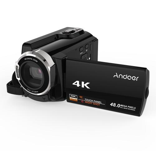 Cámara de video digital Andoer HDV-534K 4K 48MP WiFi