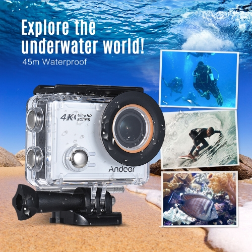 Andoer 4K Action Camera, Andoer AN100 WIFI Sports Action Video Camera 30MP 1080P/120fps 2.0