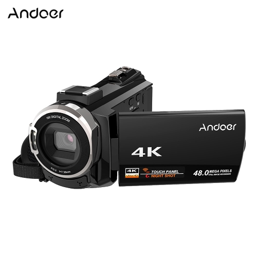 Andoer 4K 1080P 48MP WiFi Digital Video Camera Camcorder Recorder