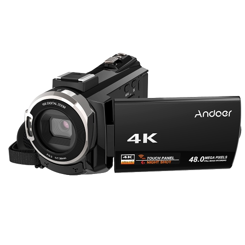 Videocámara Andoer 4K 1080P 48MP WiFi con cámara de video digital