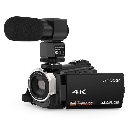 Andoer 524KM 4K 1080P 48MP caméra vidéo numérique WiFi
