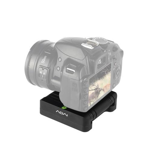 ADAI Z-Shaped Flex Tilt Tripé cabeça de liga de alumínio dobrável Z cabeça de inclinação 360 ° Rotary de liberação rápida placa Stand Mount nível de espírito para Canon Nikon Sony Pentax DSLR câmera