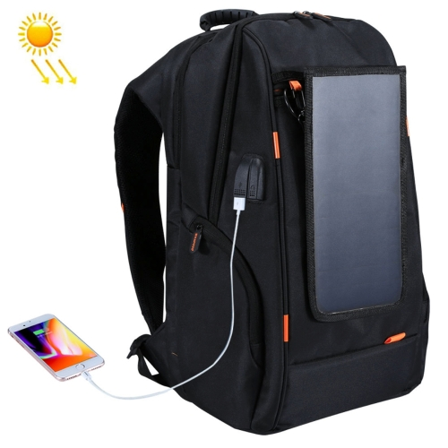 Outdoor Charging Backpack + USB Port with Solar Panel