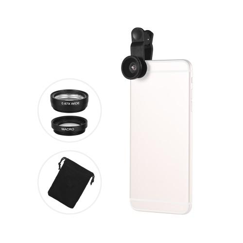 Universal Clip Lens Kit 180° Mobile Phone Fisheye Lens