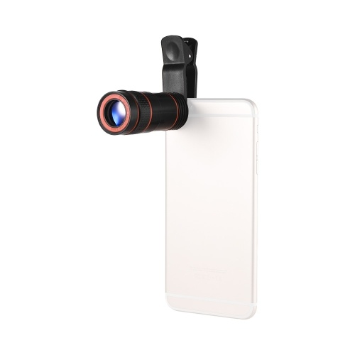 8X Zoom Optical Smartphone Telephoto Lens Portable Mobile Phone Telescope Lens with Clip Universal for iPhone Samsung HUAWEI Xiaomi HTC Most Phones