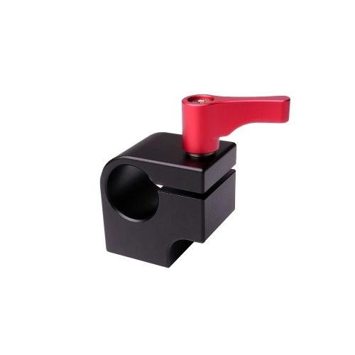 WARAXE 15mm Einzel Rod Clamp Halter Light Mount Stand Bracket mit Articulating Arm Monitor LED-Licht mit 1/4 Zoll Schraube verbunden