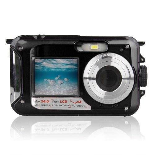 Waterproof Digital Camera Underwater Camera Video Recorder Selfie Dual Screen DV Recording Camera