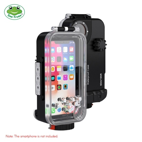 Sea frogs Professional IPX8 Waterproof Mobile Phone Case Surfing Swimming Diving Housing Case 60m/195ft Underwater 360 Degrees Full Sealed Cover Protection