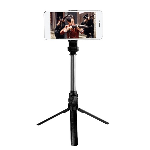Trépied en direct réglable portable multifonctionnel BT Selfie Stick portable