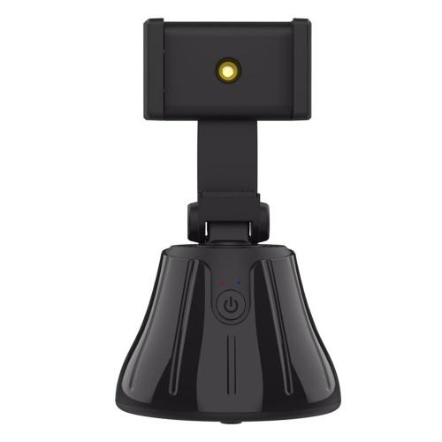 Rotazione a 360 ° Selfie Face Tracking Phone Camera Holder Intelligent Photo Taking Live Holder (Black)