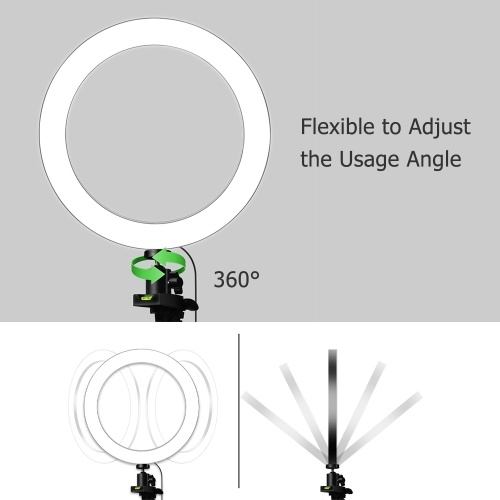 26cm/10inch LED Ring Light Fill-in Lamp Dimmable 3 Lighting Modes USB Powered