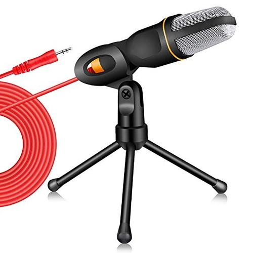 Wired Microphone with Tripod Mini Jack 3.5mm Handheld Microphone Condenser Professional Microphone Microphone Holder