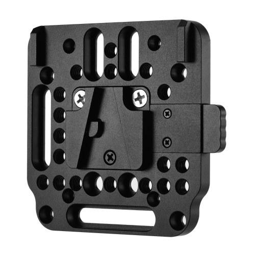 V-Lock Quick Release Plate Alliage d'aluminium 1/4 pouce M3 M4 Fraise 1/4 pouce Filetage pour batterie V-Mount
