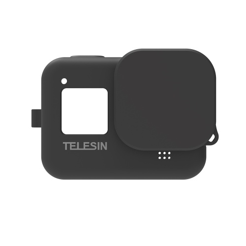 TELESIN Protecive Rubber Case Silicone Sleeve Housing Cover with Lens Cover Lanyard Compatible with GoPro Hero 8 Black Action Camera
