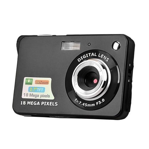K09 18MP Pantalla LCD de 2,7 pulgadas Zoom 8x Captura de sonrisa Cámara digital antivibración