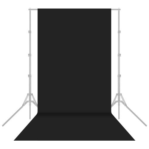 1.6x4m / 5x13ft photographie Studio toile de fond non-tissé écran de fond couleur unie noir