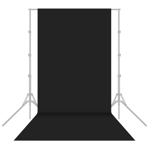 1.6x5m / 5x16ft photographie Studio toile de fond non-tissé écran de fond couleur unie noir
