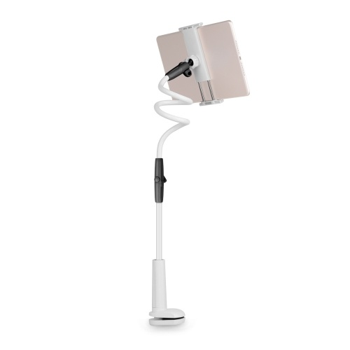 Lazy Mountable Telefonhalter mit Klemme Flexibler langer Arm Kompatibel mit Handys und Tablets