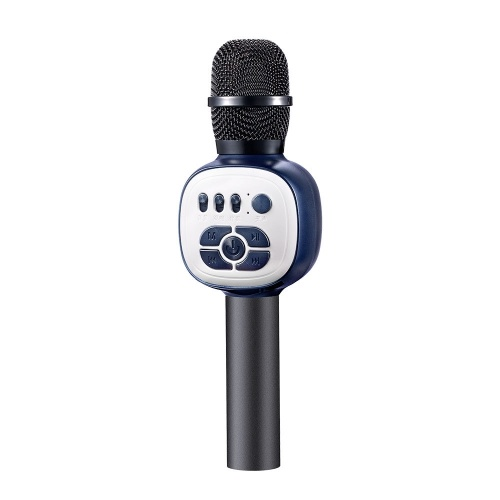 Wireless Karaoke Microphone Condenser Portable Monitoring Mic for Kids with LED Light Effects