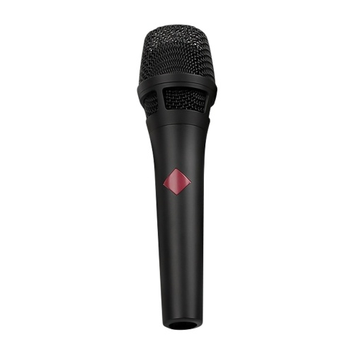 Handheld Condenser Microphone Multifuctional for Studio Recording Podcasting Live Streaming Smartphones Computer Karaoke with Audio Cable Black