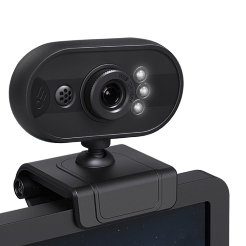 480P USB Webcam Laptop Computer Camera Clip-on PC Web Camera Manual Focus
