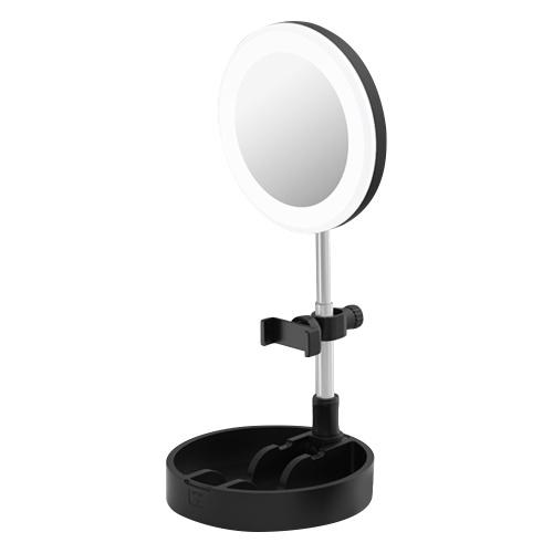 Lâmpada anelar LED portátil lâmpada circular de mesa dobrável luz de preenchimento ajustável