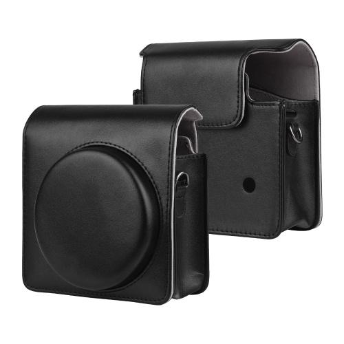 Custodia per fotocamera istantanea portatile Borsa da trasporto in pelle PU con tracolla